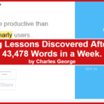 Marketing Lessons Discovered After Writing 43,478 Words in a Week